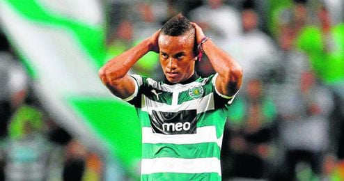 André Carrillo, con el Sporting.