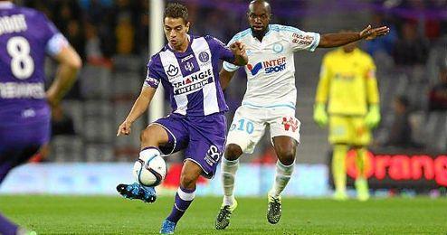 Ben Yedder, en un partido de esta temporada ante el Olympique de Marsella.