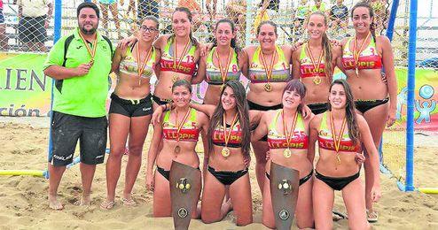 El Balonmano Playa Sevilla ya cuenta con varios trofeos en su palmarés.