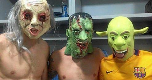 Varios de los jugadores culés celebraron así Halloween.