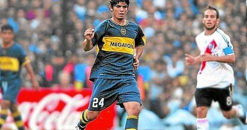 Banega, en sus comienzos en Boca Juniors.