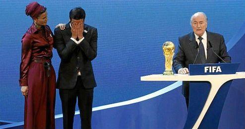 Joseph Blatter en la elección de la sede del Mundial 2022.
