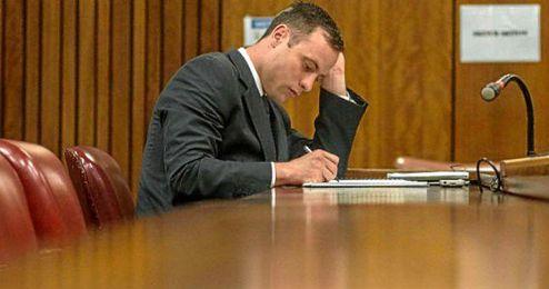 Pistorius durante su juicio.