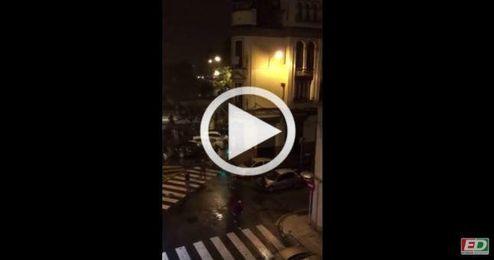La policía siguió a los radicales del Sevilla por toda la ciudad