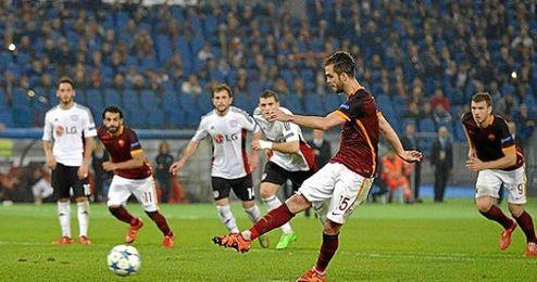 Pjanic, que dio el gol de la victoria de la Roma anoche, no estará en el derbi capitolino.