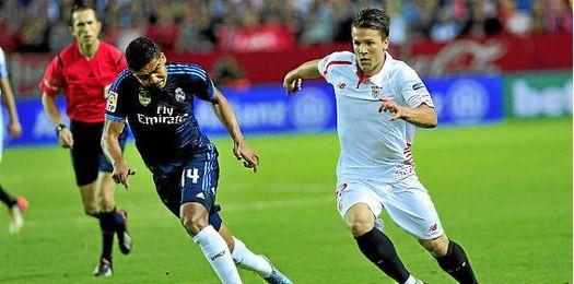 Casemira, en el partido ante el Sevilla.