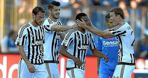 La �Juve� comenz� su remontada con el gol de Evra.