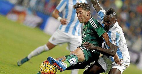 Se llevó ayer la victoria por un 0-1 ante el Málaga.
