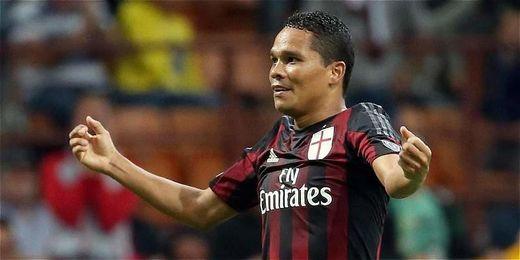 Carlos Bacca lleva 6 goles con el Milan en la Serie A.