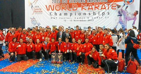 De las siete medallas conseguidas, cinco han sido en la modalidad de katas (cuyos seleccionadores son Lorenzo Mar�n y Asier Elordui).