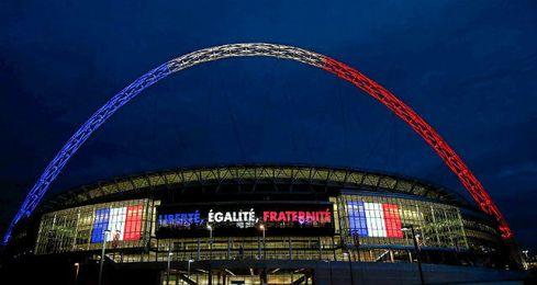 Así lució Wembley en el Inglaterra-Francia.