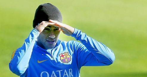 El jugador, en un entrenamiento con el FC Barcelona.