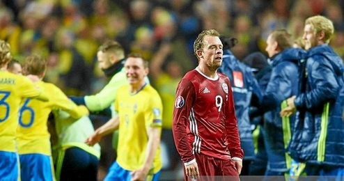 Krohn-Dehli acabó desolado tras el Dinamarca-Suecia.