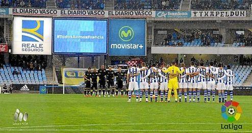 Imagen de la Real Sociedad-Sevilla, en Anoeta.