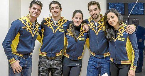 Javier Raya (izquierda) en un acto de la Federación Española de Deportes de Hielo.