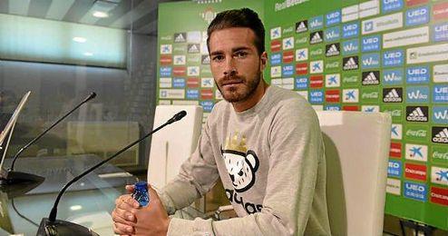 Xavi Torres en rueda de prensa.