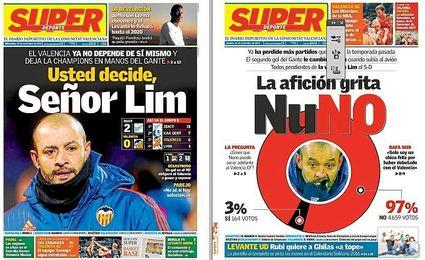 Estas son las portadas de los dos �ltimos d�as en Valencia.