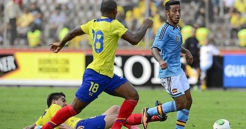 Imagen del partido disputado entre Espa�a y Ecuador en 2013.