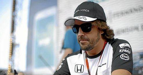 Alonso, en el Gran Premio de Abu Dabi.