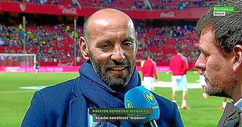 Monchi habl� antes del partido sobre la actualidad del Sevilla.