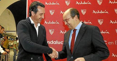 """Emery cree que """"habrá estabilidad"""" en el Sevilla."""