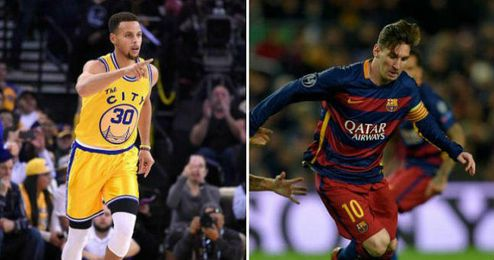 Imagen de Stephen Curry y Leo Messi.