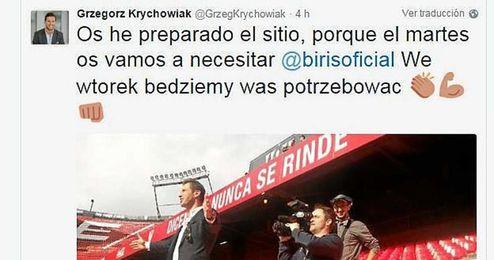 Krychowiak se ´cita´ con los Biris