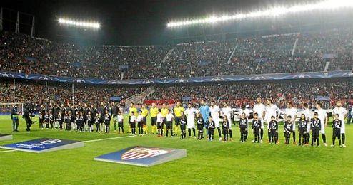Imagen del Sevilla-Juventus, partido de Champions en el S�nchez Pizju�n.