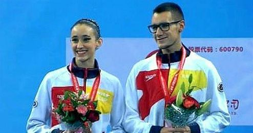 La pareja española formada por Berta Ferreras y Pau Ribes.