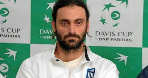 En la imagen, el tenista griego Alexandros Jakupovic.