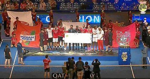 Marcelona Melo, Carlos Moya, Belinda Bencic, Stanislas Wawrinka, Dustin Brown y Karolina Pliskova formaban el equipo ganador.