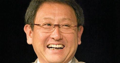 Akio Toyoda en un acto de Toyota, la empresa que preside.