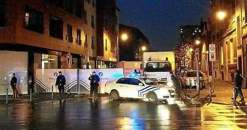 La Policía llevó a cabo el resgistro en pleno centro de Bruselas.