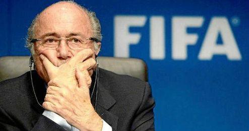 Joseph Blatter en un acto corporativo de la FIFA.