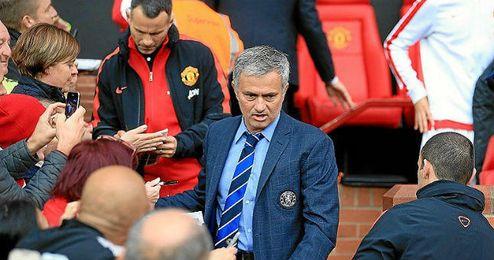 Mourinho en Old Trafford, como entrenador del Chelsea.