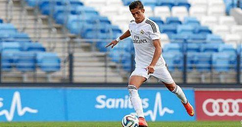 El jugador Javi Noblejas en su etapa como jugador del Real Madrid.
