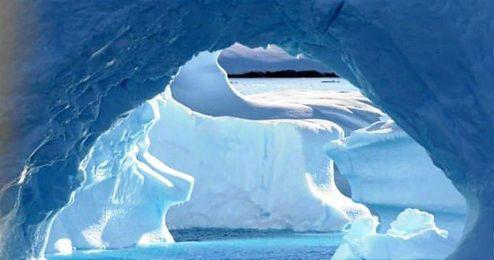 En la imagen, uno de los espectaculares paisajes del Polo Sur.