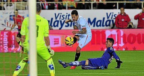 Vitolo, en el partido de Liga ante el Espanyol la temporada pasada.