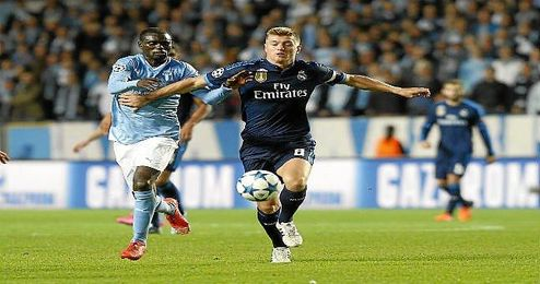 Kroos, ante el Malmoe en la Champions.
