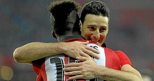 En la imagen, Aritz Aduriz celebrando uno de sus goles esta temporada.