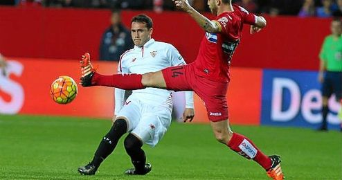 Crist�foro, en un lance del Sevilla-Espanyol.