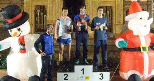 Juan Robles presidió el podio en la prueba masculina.