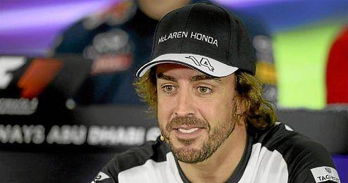 Fernando Alonso, en rueda de prensa durante la temporada pasada.