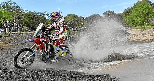 Joan Barreda, en acción en el Dakar.