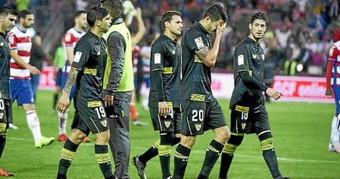 El de Granada ha sido el único partido fuera de casa en el que Banega estuvo por el campo algún minuto y el Sevilla no puntuó.