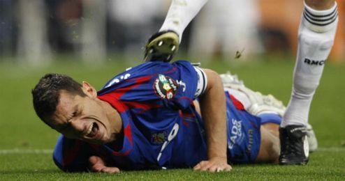 Imagen de la agresión a Casquero en 2009.