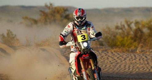 Sexta etapa del Dakar. En la imagen Joan Barreda.