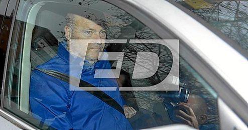 Pepe Mel, a su llegada al Benito Villamar�n.