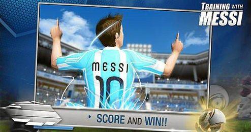 """Han creado el videojuego oficial """"Training with Messi"""", cuyos fines son sociales."""