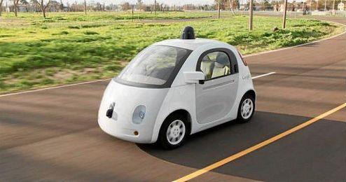 En la imagen, un modelo de coche autónomo.